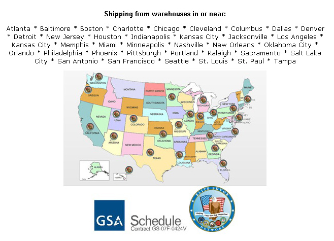 Shipping from warehouses in or near